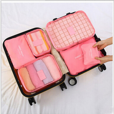 Hot Sale 6 Pieces One Set Storage Bags Polyester High Quality Large Capacity Of Travel Bag Unisex Clothing Sorting Organize Bag<br><br>Aliexpress