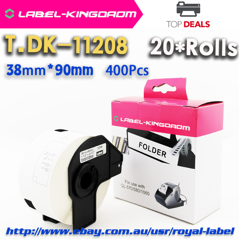 20 Rolls Brother Generic DK-11208 Label Compatible P-touch QL-700 DK-1208 Thermal Sticker Labels(China (Mainland))