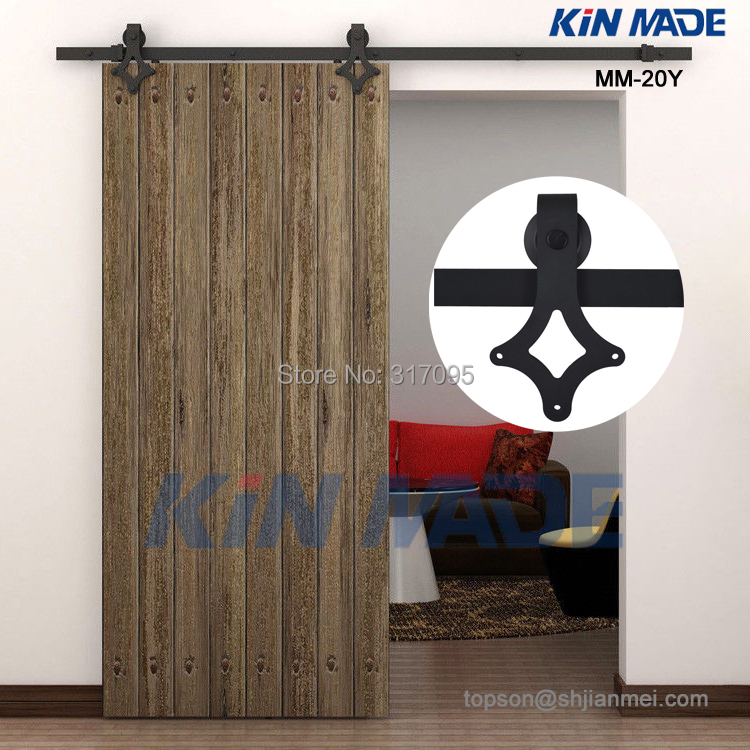 Shipping Wooden Barn Door Kits Sliding Door Track Home Renovation Easy