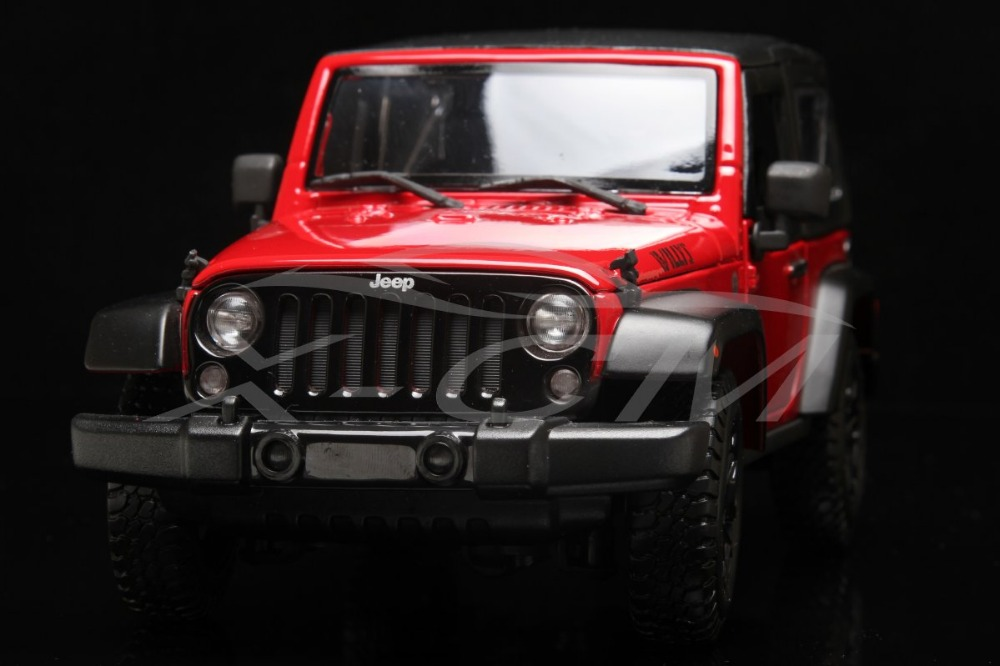 Diecast Car Model Maisto Jeep Wrangler Willys 1:18 (Red/Black) + SMALL GIFT!!!!!!!!!(China (Mainland))