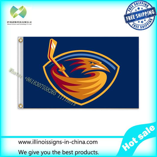 NHL Atlanta Thrashers Flag 3x5 FT 150X90CM Banner 100D Polyester flag 1093, free shipping(China (Mainland))