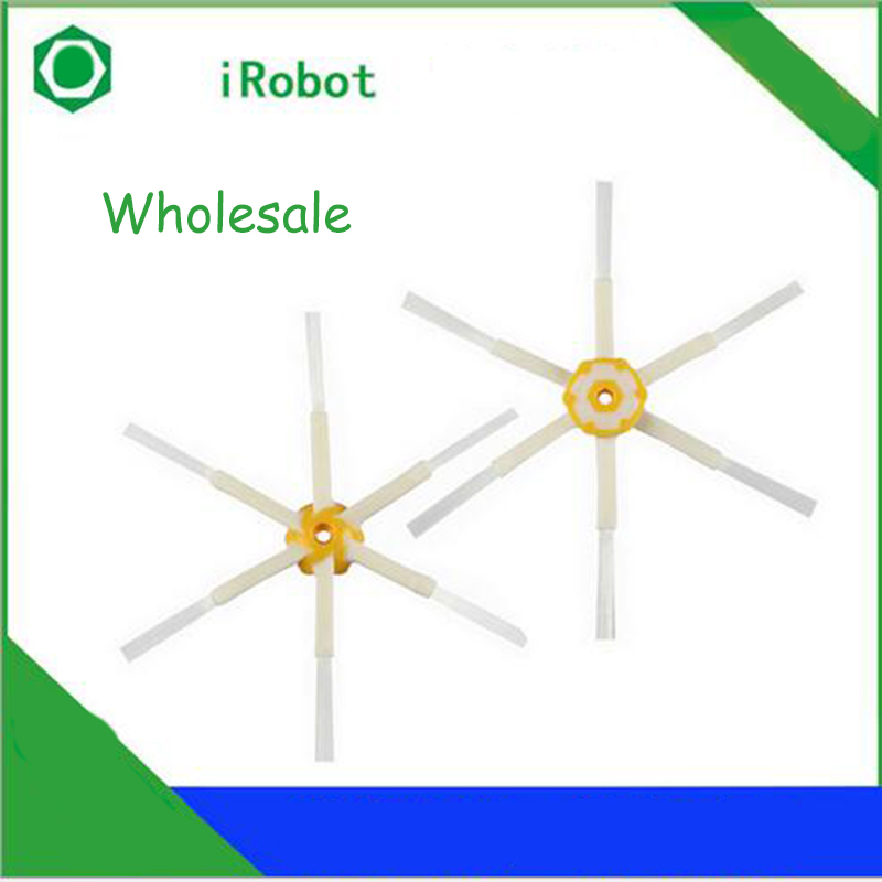 50pcs/lot Vacuum Cleaner Parts Replacement 6-Arms Side Brush For Irobot Roomba 6/7/8 Series Vacuum Cleaner(China (Mainland))