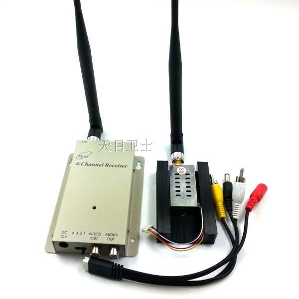700Mw,4channel 1.2G Wireless AV transceiver,1.2G Video Audio Transmitter Receiver,CCTV camera wireless FPV transmitter(China (Mainland))