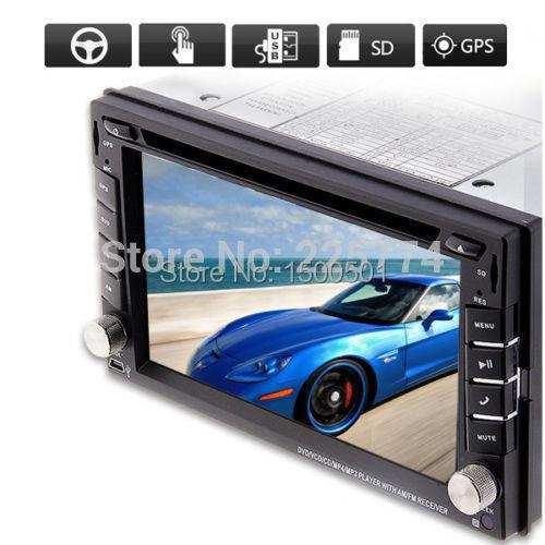 "GPS Navigation 2 Din Car DVD Player 6.2"" Car GPS iPod Radio DVD Player Double DIN Stereo Bluetooth iPod TV Digital Touch Screem(China (Mainland))"
