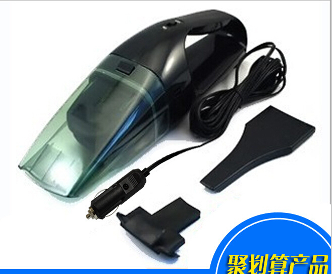 Brand New 60W Super Suction Mini 12V High-Power Wet and Dry Portable Handheld Car Vacuum Cleaner Black Color 4.5 meters wire(China (Mainland))