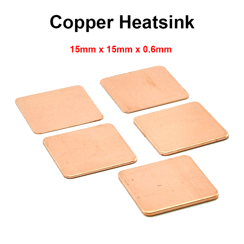 10pcs/lot 15x15x0.6mm DIY Copper Shim Heatsink thermal Pad Cooling for Laptop BGA CPU VGA Chip RAM IC Cooler Heat sink(China (Mainland))