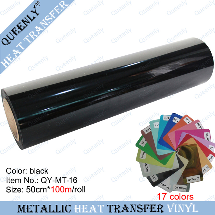 Metallic heat transfer film PET Metal light Heat Transfer Vinyl 50cm*100m/roll(China (Mainland))