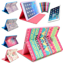 5 in 1 Hybrid PU Leather Flip Stand Smart Case Cover For iPad mini mini 2 mini 3 Screen Protector Film Stylus Pen Free shipping(China (Mainland))