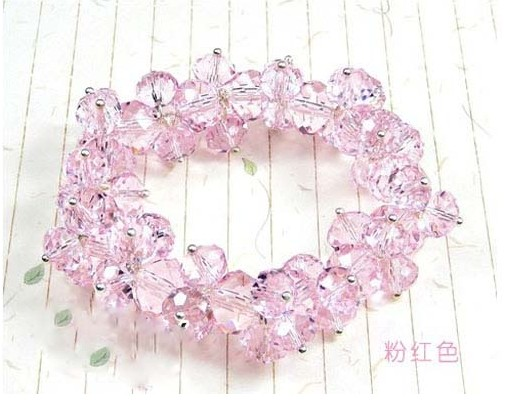 Fashion artificial crystal female handmade beaded accessories hand ring elastic adjustable size(China (Mainland))