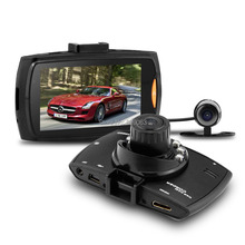 G30B Car Black Box Allwinner Car DVR Dual Lens with Car Rearview Camera 2 7 LCD