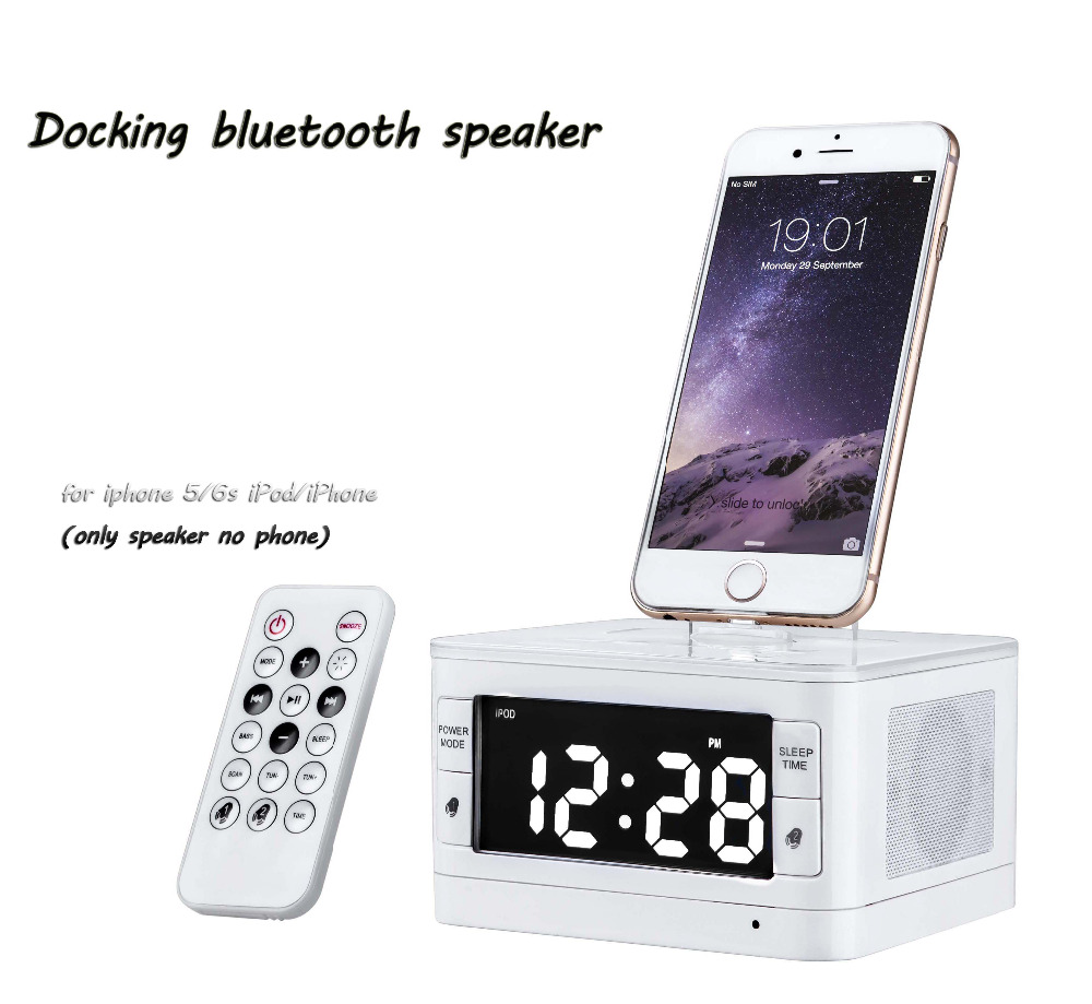 2016 portable bluetooth speaker t7 all in one gadgets portable alarm clock fm radio charging. Black Bedroom Furniture Sets. Home Design Ideas