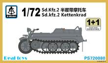 S-modelo 1/72 PS720080 1/72 WWII German sd. kfz. 2 Kettenkrad kit modelo de plástico