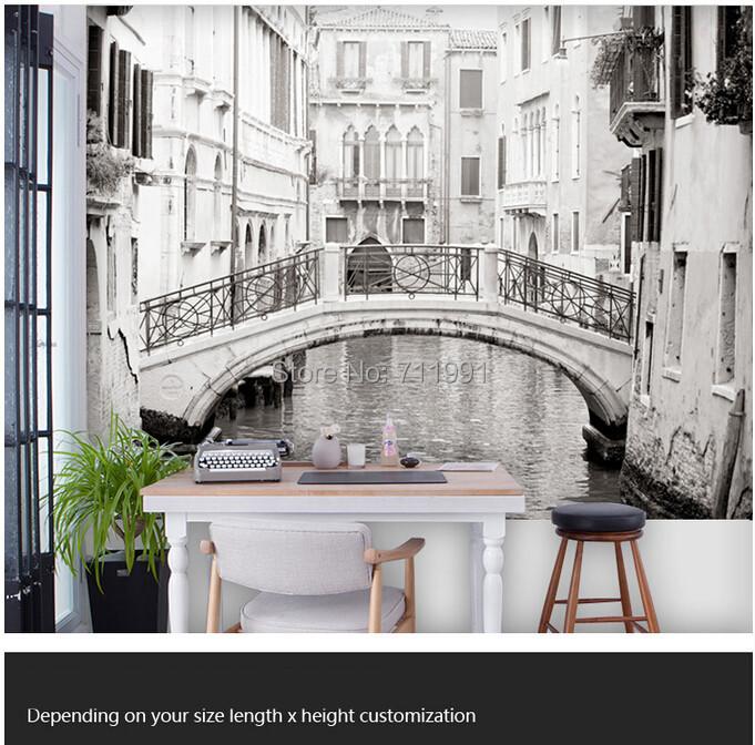 Comprar custom wallpaper foto blanco y for Sala de estar blanco y negro