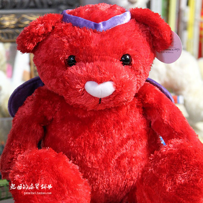 Big Teddy bear Red sample edition 70 cm stuffed doll for collection toys forchildren car decoration free shipping(China (Mainland))