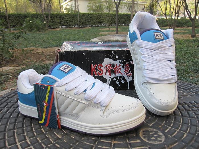 Ks мужчины в скейтбординг обувь в белый цвет и синий лучшие продажи