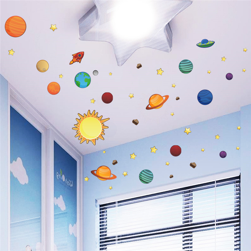 solar system universe wall stickers for kids room nursery how to decor kids wall stickers for bedroom optimum houses