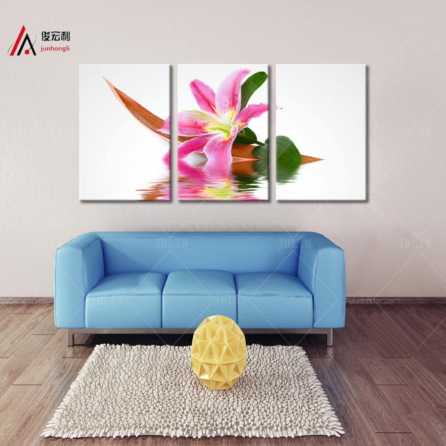 Online kopen wholesale framed lily flower art canvas uit china ...