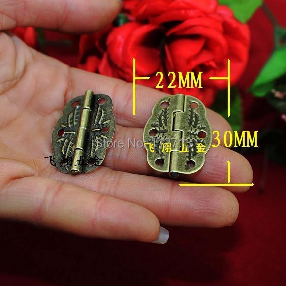 50pcs 30 * 22MM antique hinge metal printing small wooden gift box hinge 6 small holes box hinge(China (Mainland))
