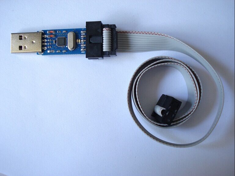 FREE SHIPPING 1LOT New USBASP USBISP AVR Programmer USB ATMEGA8 ATMEGA128 Support Win7 64K(China (Mainland))