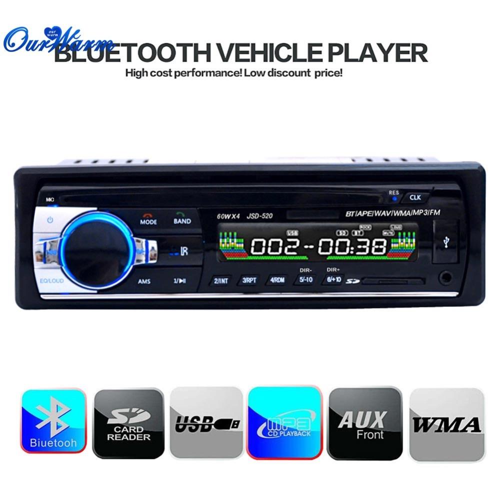 Bluetooth MP3 Player WMA WAV vehicle Auto Digital FM Stereo Radio Audio AUX Dash Din Machine Music 12V(China (Mainland))
