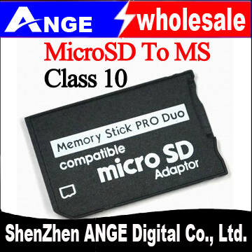 Free Shipping 100pcs/lot Micro SD TF to Memory Stick MS Pro Duo class 10 Adapter; for sony PSP, camera, mobile(China (Mainland))