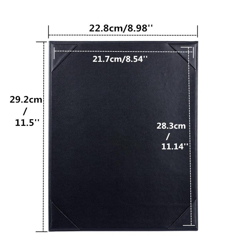 20pcs Wholesale Retail Restaurant Menu Cover PU Leather A4 Menu List Holder Black Menu Folder List Cover Accept Customized Order(China (Mainland))