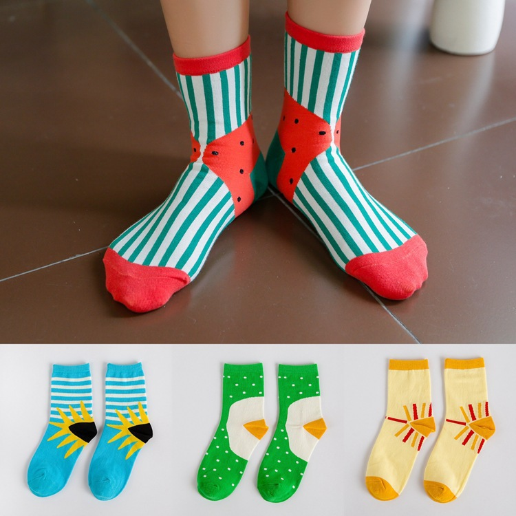 A073 cotton socks socks wholesale Android products Korea fresh fun cotton socks with dot stripe(China (Mainland))