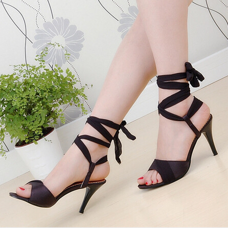 Big Size 9 10 Sexy Ladies High Heels Sandals Ankle Strap Party Pumps Open Toe Black Fashion Women Gladiator Shoes Beige Blue