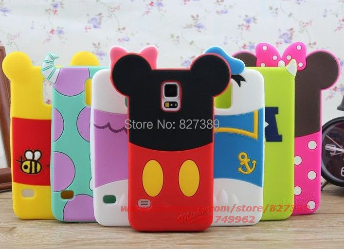 for samsung galaxy s5 case silicone sulley minnie mickey mouse alien cell phone defender cases cover for samsung galaxy sv i9600(China (Mainland))