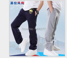 2014 autumn boys trousers sport harem pants kids Thick warm terry elastic waist all for children's clothing and accessories(China (Mainland))