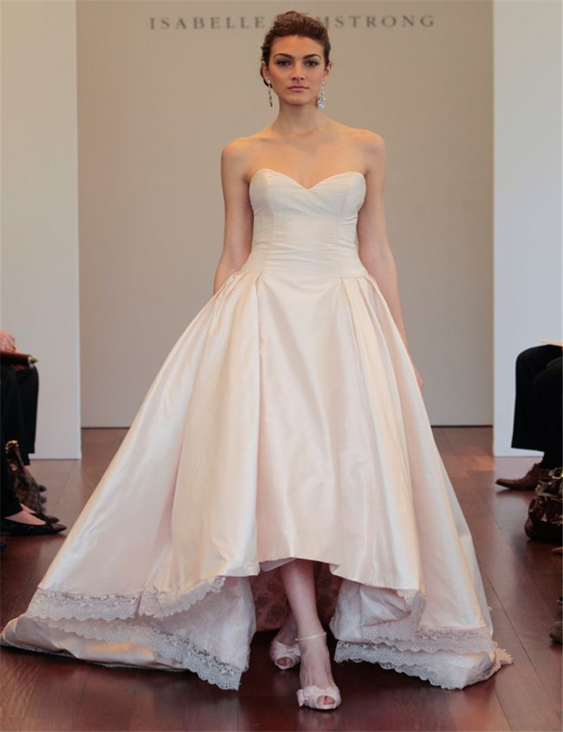 Wedding gowns short in front long back wedding dresses asian for Long dress to a wedding
