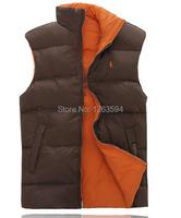Новая зимняя Мужская безрукавка, любитель отдыха хлопка жилет Двухсторонний жилет без рукавов, тепло зимой
