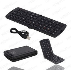 Free Shipping Wireless Bluetooth Fold Keyboard for iPhone iPad Android Tablet PC