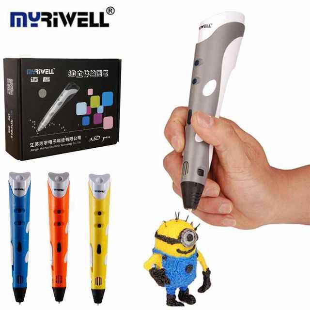 3D Ручка/3D Печать Ручка Myriwell Марка Первого Поколения ЕС Plug ручка 3D Модель Крафт Модель Стереоскопического Искусства Инструмент Для Детей подарки