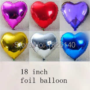 18 Heart  Balloons Foil Balloon Thick Balloon High Quality Birthday/New Year/party Wedding Decoration Balloon  <br><br>Aliexpress