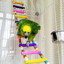 Haustier Vogel Spielzeug Holz Leiter Klettern Papagei Ara Käfig Schaukel Regal Papagei Bites Spielen brinquedo FEN #(China (Mainland))