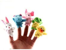 Hot sale 10pcs Baby Plush Lovely Velvet Play Learn Animal Story Toy Cute Cartoon Finger Puppets Kids Toys(China (Mainland))