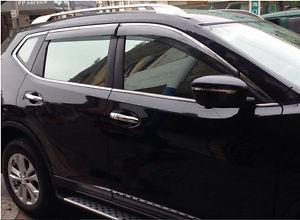 Window Visor Vent Shade Sun Rain Guard Deflector For Nissan Rogue X-trail  2014 2015<br><br>Aliexpress
