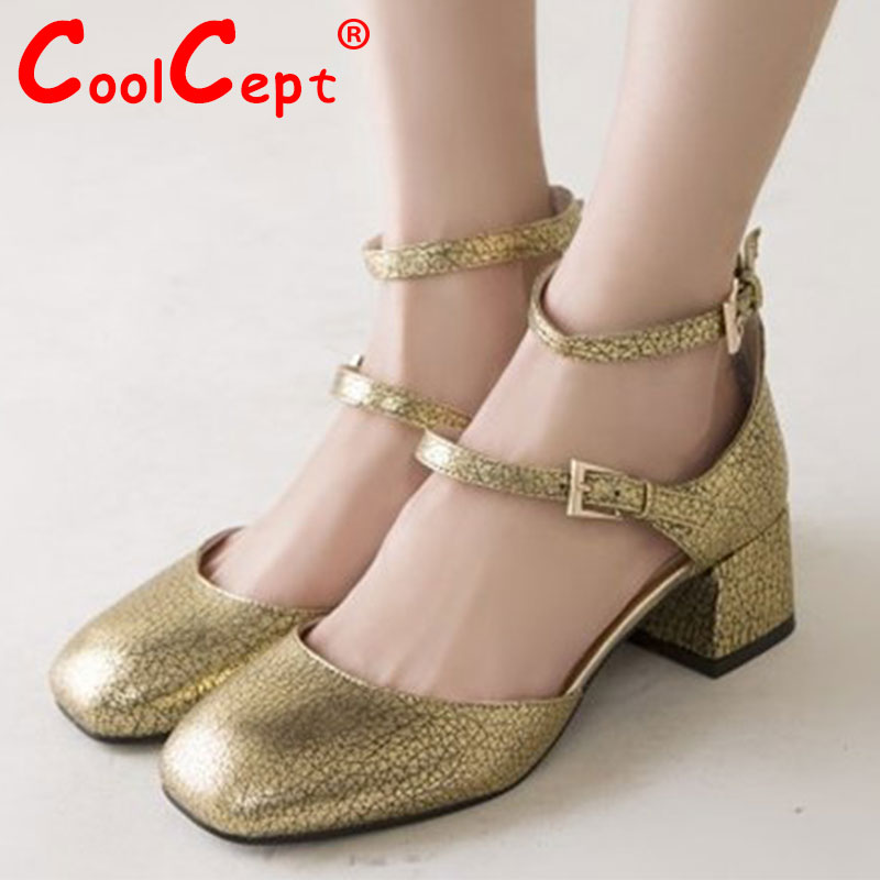 women real genuine leather patent buckle square toe high heel sandals sexy fashion brand footwear shoes size 34-39 R6104<br><br>Aliexpress