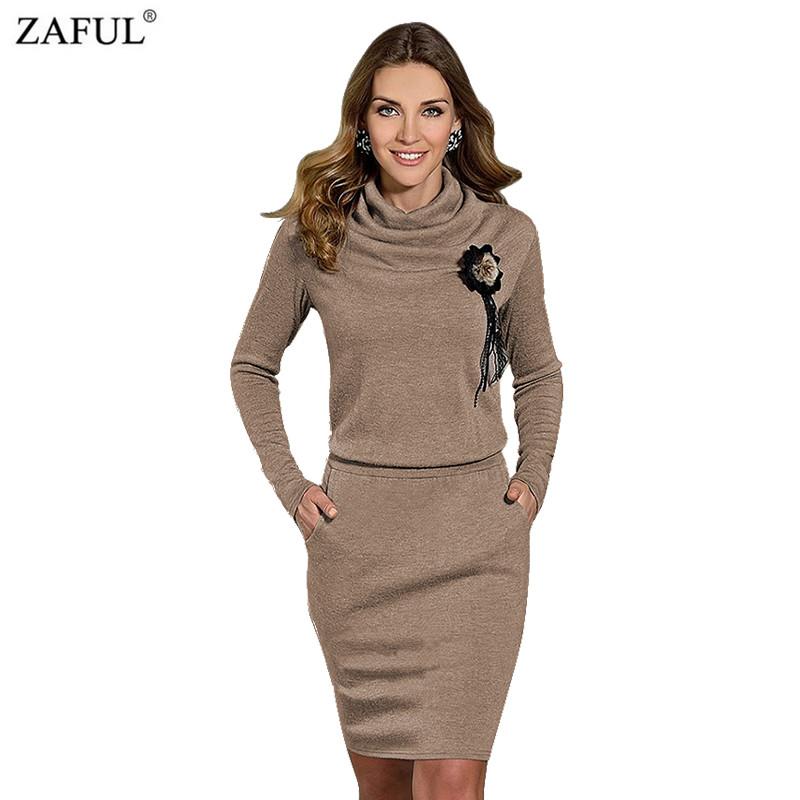 ZAFUL 2016 New Brand Fashion Long Sleeve Women Sexy autumn dress gray casual sexy bandage dress warm dress female vestidos(China (Mainland))