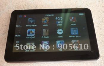 Built in 4GB 4.3inch Touch Screen car GPS navigation with latest FM transmitter MP3/MP4 Player Wince 6.0 Free shipping