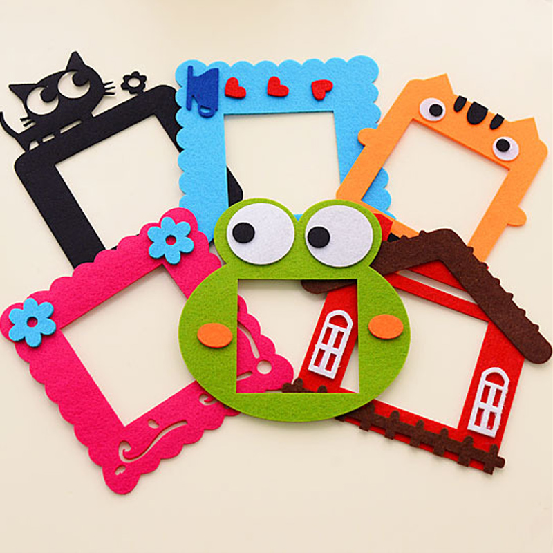 6pcs kawaii wall stickers wallpaper felt hollow switch for Stickers decorativos