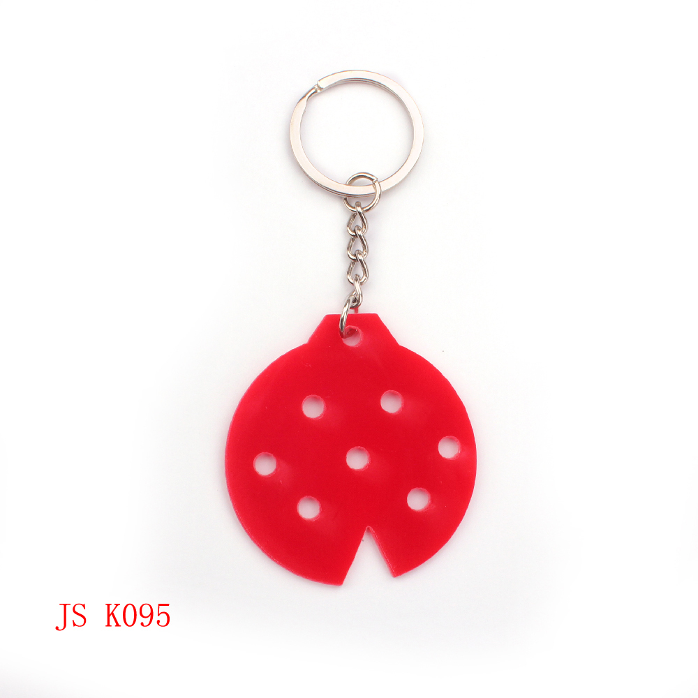 (200 pieces/lot) OEM Factory Promotion Keychain Cheap Item Custom Design Acrylic Keychain Kids Promotion Ladybug Insect Keychain(China (Mainland))
