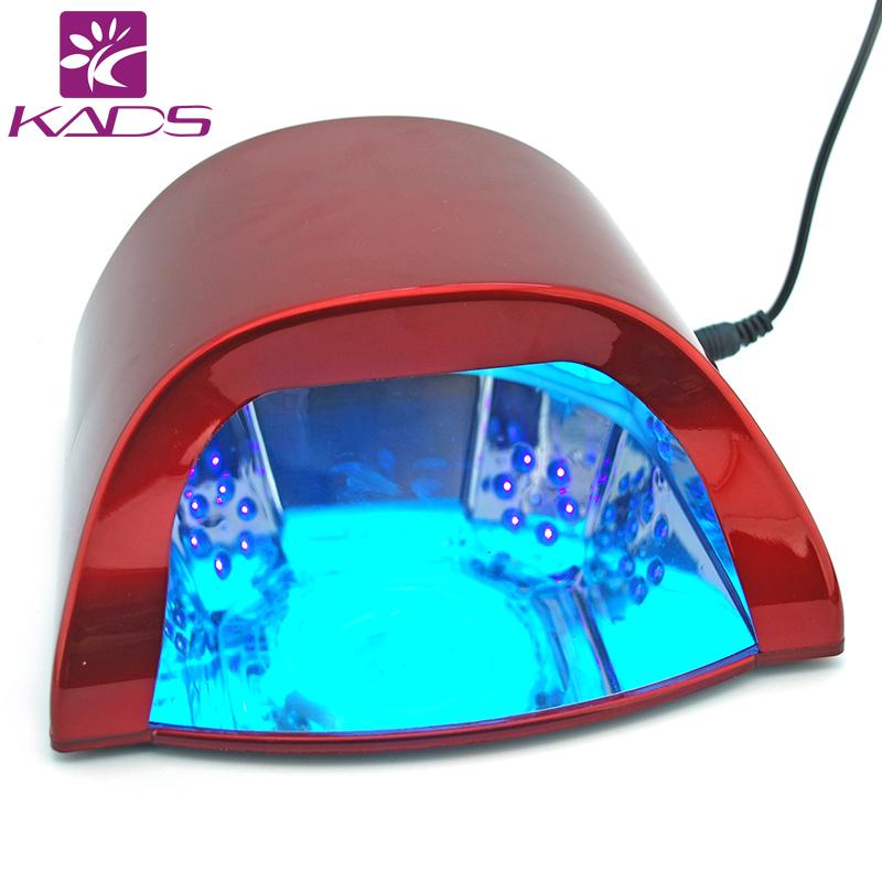 KADS Professional 110v&220v 18w LED Nail Gel Curing UV Light Lamp for Manicure Salon EU US Plug Available Nail Polish Dryer(China (Mainland))