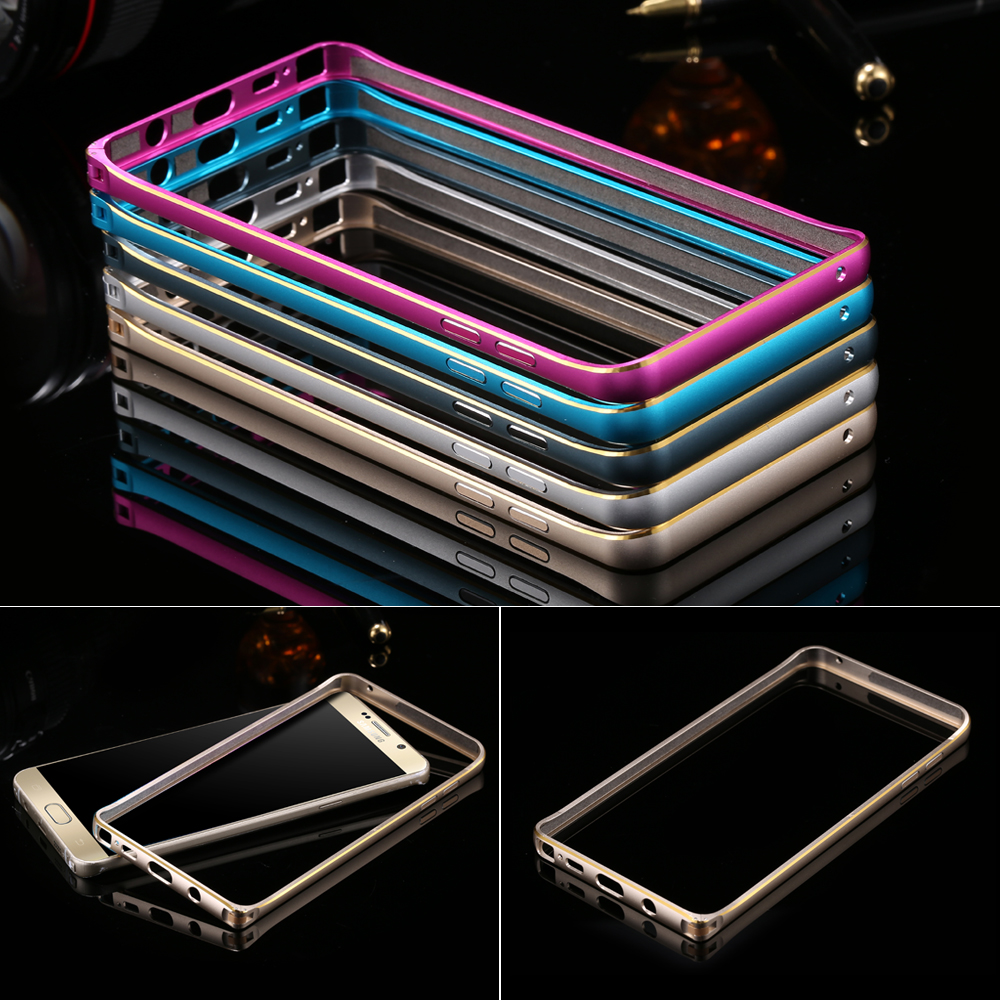 Note 5 Cool Aluminum Rim Metal Frame Case For Samsung Galaxy Note5 N920 Luxury Hard Slim Dual Color Hybrid Protect Phone Cover(China (Mainland))