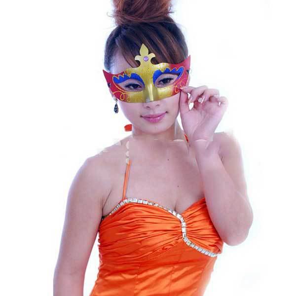 Flaxton Stylish Dance Parties Gold Dust Tip Shape Style Eye Mask(China (Mainland))