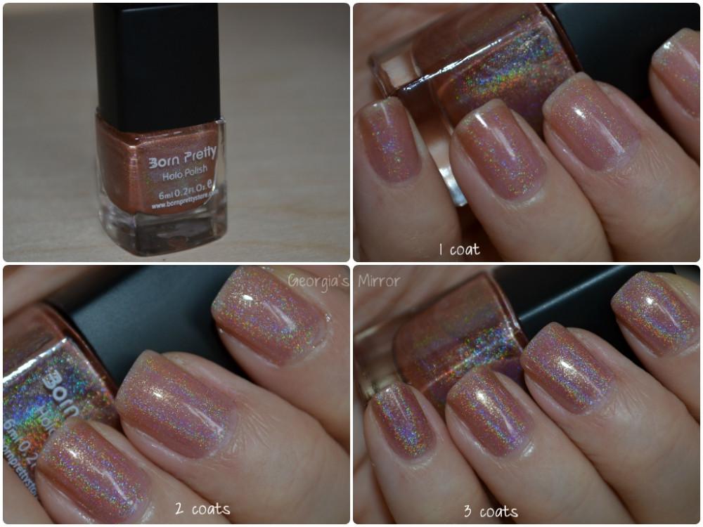 Born Pretty Holographic Nail Polish Holo Glitter Enamel 1Pc 6ml Pink ...