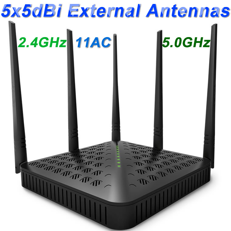 WIFI Router Wifi repeater 11AC Dual Band 1200Mbs Tenda FH1202 Wireless WI FI Router Extender WDS Qos English firmware 802.11AC(China (Mainland))