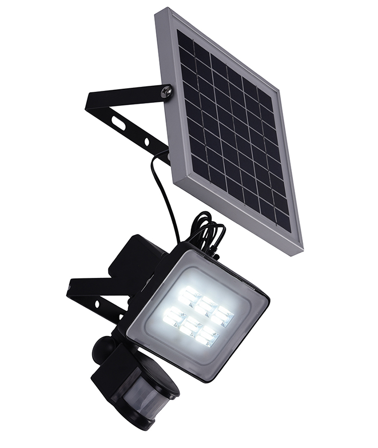 New 10W Solar LED Flood Light With PIR Motion Sensor DC12V 24V 600LM Solar Powered Security Lights IP65 Waterproof Solar Light(China (Mainland))