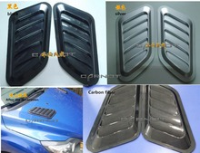 2 PCS car decoration car outlet false hood tuyere modified vent carbon fiber into a fake cover tuyere auto parts Free shipping